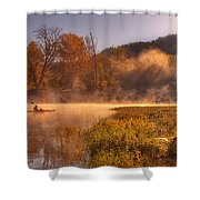 Paddling In Mist Shower Curtain
