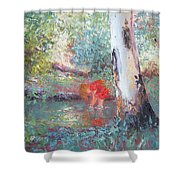 Paddling In The Creek Shower Curtain