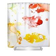 Paint Splatters And Paint Brush Shower Curtain