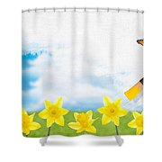 Painting Daffodils Shower Curtain