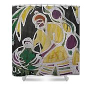 Palm Wine Tamper In The Bush. Shower Curtain