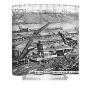 Panama Canal, 1910s Shower Curtain