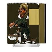 Pancho Villa Puppet Shower Curtain