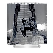Pancho Villa Statue Downtown Tucson Arizona 1988-2008  Shower Curtain