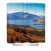 Panorama Of Fish Lake Yukon Territory Canada Shower Curtain
