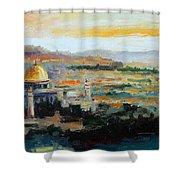 Panorama Of Jerusalem Shower Curtain