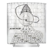 Papertrail Shower Curtain