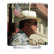 Parade Watcher Flag In Hat July 4th Prescott Arizona 2002 Shower Curtain