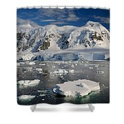 Paradise Bay, Antarctica Shower Curtain