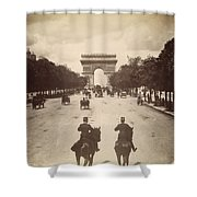 Paris Champs-�lys�es, C1900 Shower Curtain