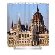 Parliament Building In Budapest Shower Curtain