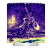 Passion In The Night Shower Curtain
