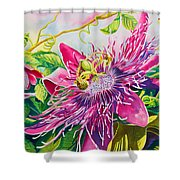 Passionflower Party Shower Curtain