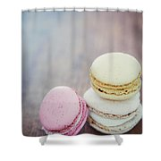 Pastel Macarons II Shower Curtain