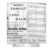 Patent Medicine Ad, 1887 Shower Curtain