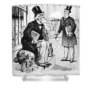 Patent Medicine Cartoon Shower Curtain