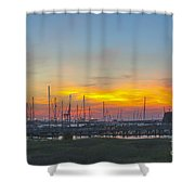 Patriots Point Sunset Shower Curtain