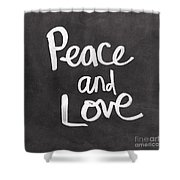 Peace And Love Shower Curtain