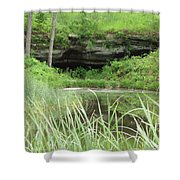 Peaceful Cavern  Shower Curtain