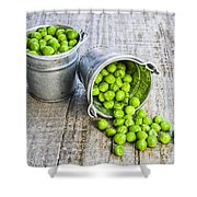 Peas Shower Curtain