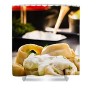 Pelmeni Dumplings With Fennel And Smetana Sour Cream Shower Curtain
