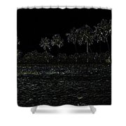 Pencil - Water Rippling In The Coastal Lagoon Shower Curtain