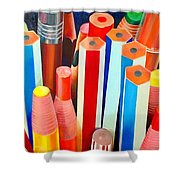 Pencils Shower Curtain