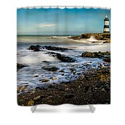 Penmon Lighthouse Shower Curtain