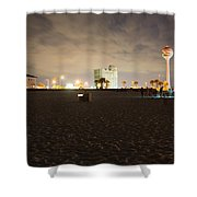 Pensacola Beach At Night Shower Curtain