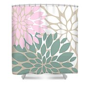 Peony Flowers Shower Curtain