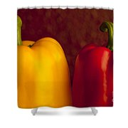 Peppers Still Life Close-up Shower Curtain