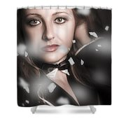 Performing Arts Woman. Romantic Stage Performance Shower Curtain