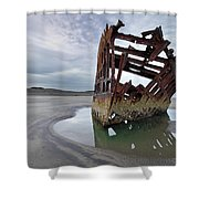 Peter Iredale At Dawn Shower Curtain