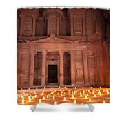 Petra By Night Shower Curtain