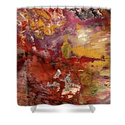 Petrified Wood Detail Shower Curtain