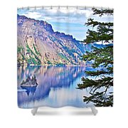 Phantom Ship Overlook In Crater Lake National Park-oregon Shower Curtain