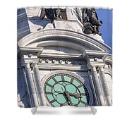 Philadelphia City Hall Clock Shower Curtain