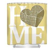 Philadelphia Street Map Home Heart - Philadelphia Pennsylvania R Shower Curtain