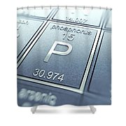 Phosphorus Chemical Element Shower Curtain