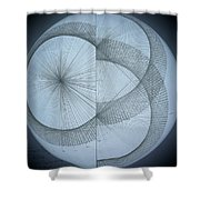 Photon Double Slit Test Shower Curtain