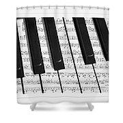Pianoforte Shower Curtain