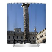 Piazza Colonnai Rome Shower Curtain