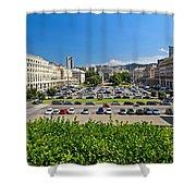 Piazza Della Vittoria - Genova Shower Curtain