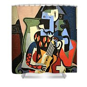 Picasso's Harlequin Musician Shower Curtain