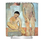 Picasso's Two Youths Shower Curtain