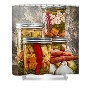 Pickled Vegetables Shower Curtain