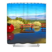 Picnic Leftover Shower Curtain