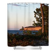 Pictured Rocks At Sunset Shower Curtain