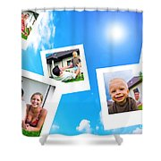 Pictures Of Happy Family Shower Curtain