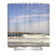 Pier At Nags Head  Shower Curtain